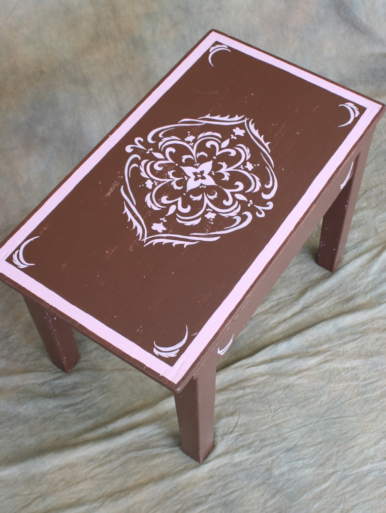 vintage-twisted : chocolate & pink table/top view