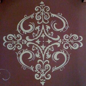 chocolate chair detail