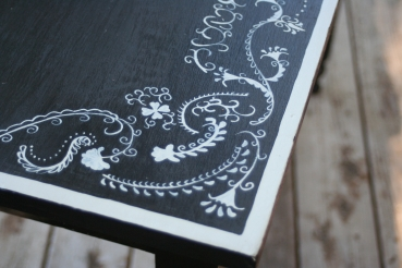 black and sage table